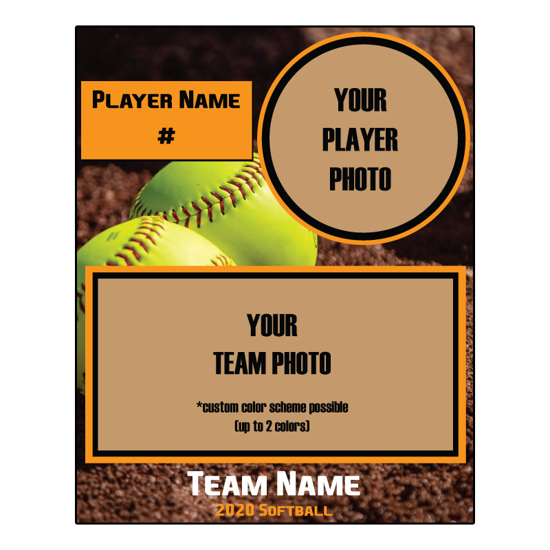Custom softball Digital Memory Mate