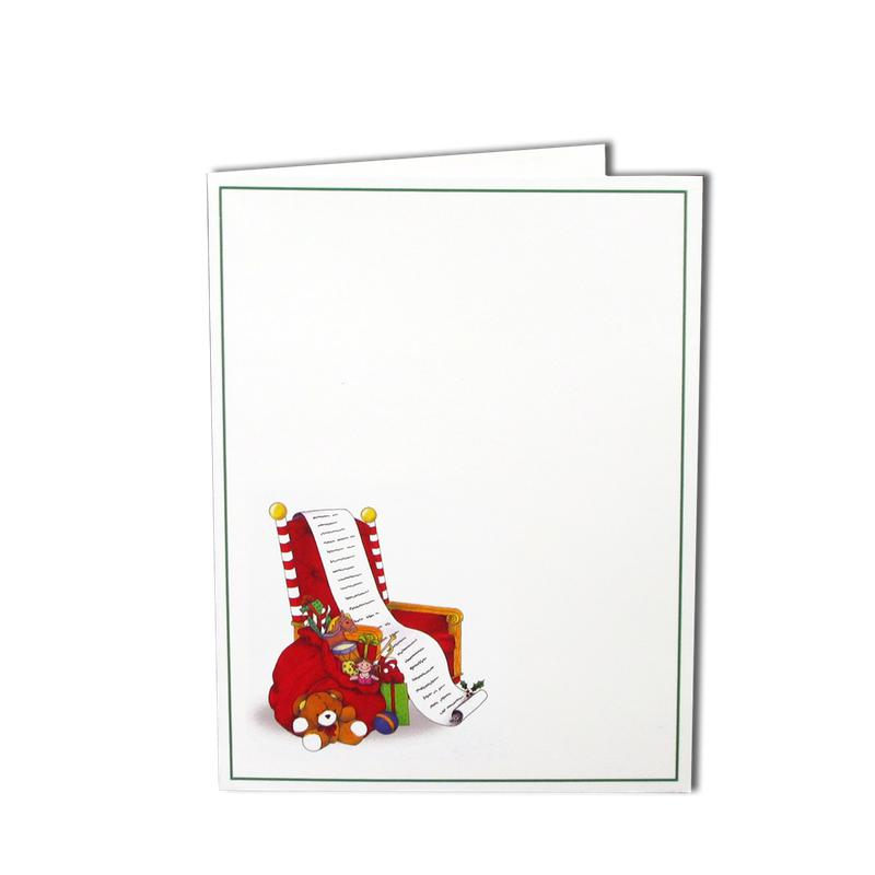 2.4x3.9 Santa's Chair Instax Folder frame