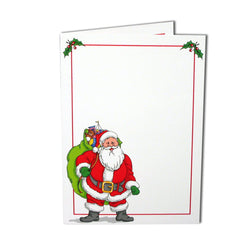 Santa with Bag Folder White
