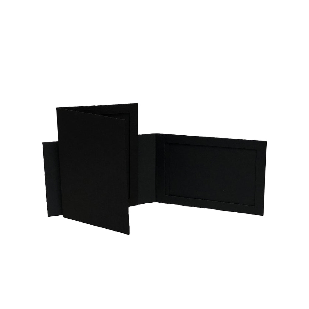 Black Side-Insert Portrait Folders frames