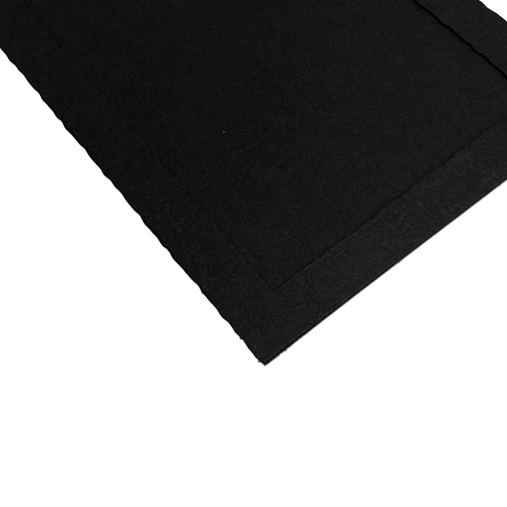 Blank black Side-Insert Portrait Folders frames