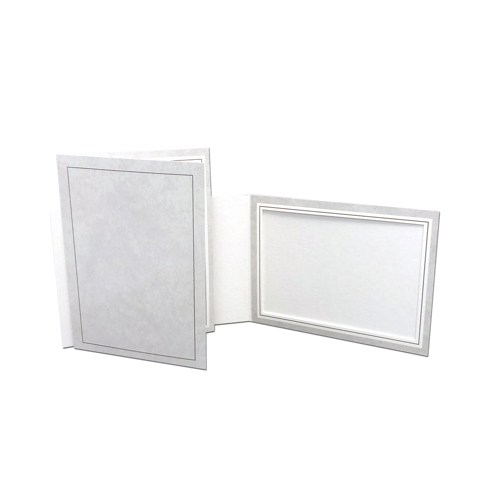 Gray Smooth Marble Gray Folder frames