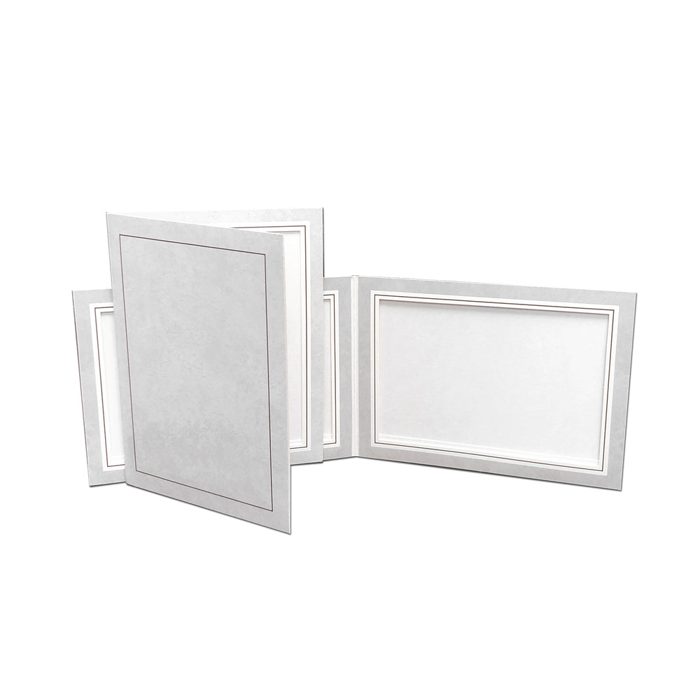 Gray Smooth Marble Doubles Folder frames