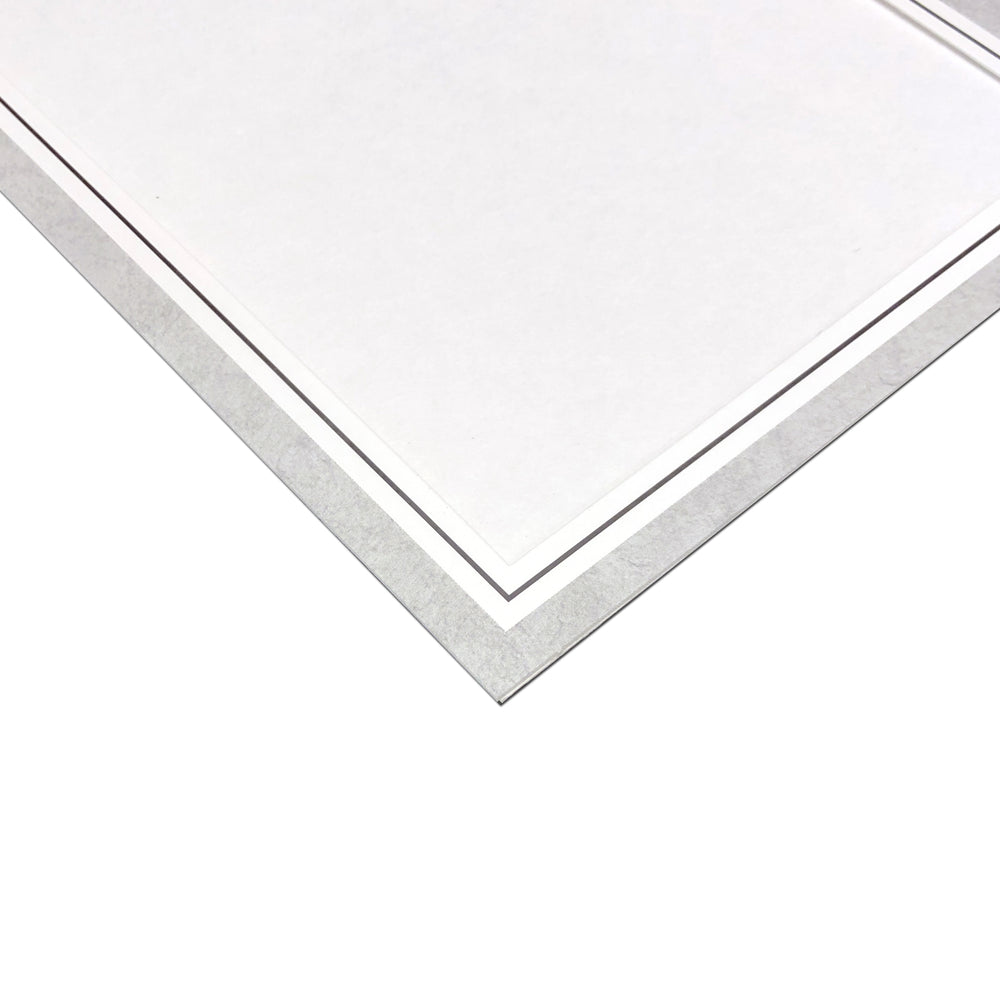 Gray Smooth Marble Doubles Folder frames with black trim