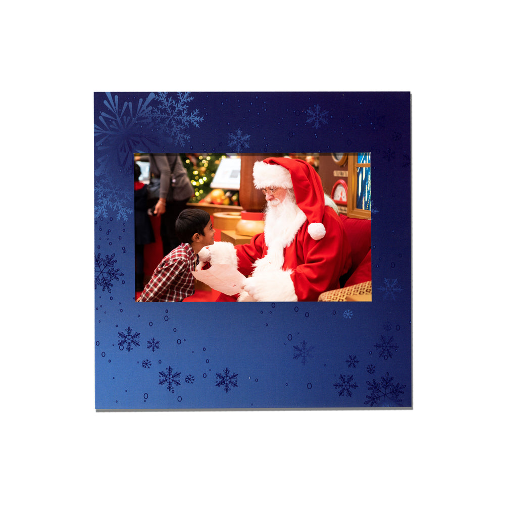 Blue Snowflake Instax Easel frame