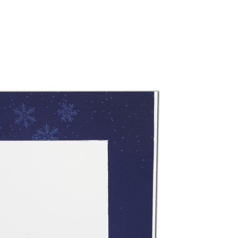 Christmas Snowflakes Folder frames with blue trim