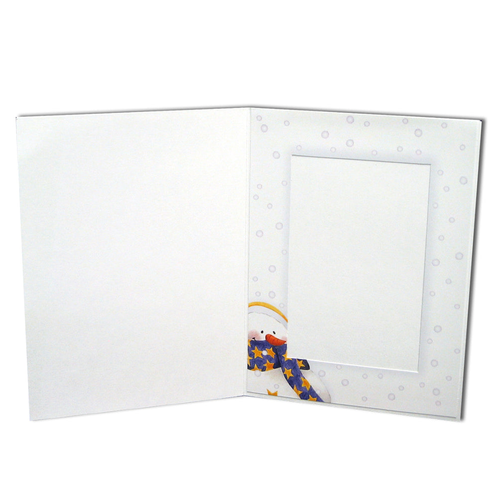 4x6 or 5x7 Christmas Snowmen Folder frames