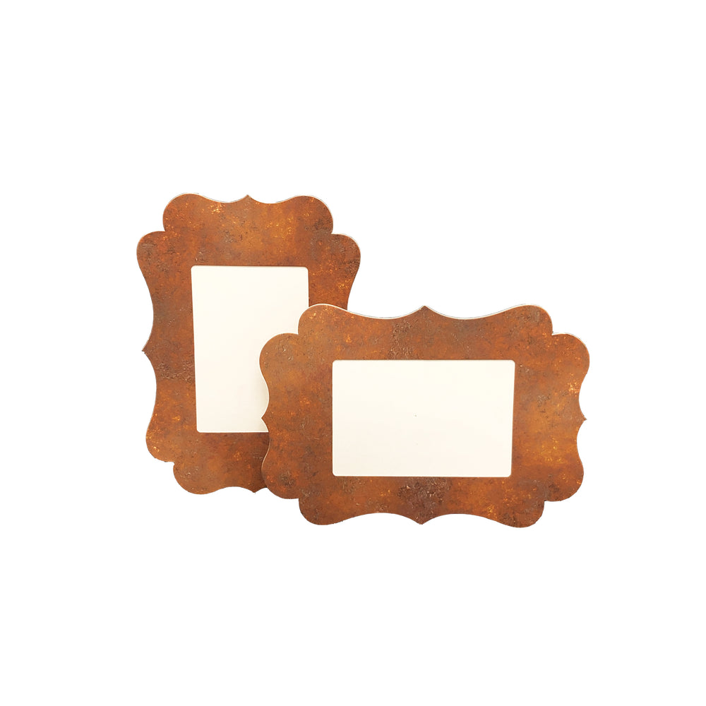 3.5x5, 4x6 or 5x7 Rust Traced Easel Series frames