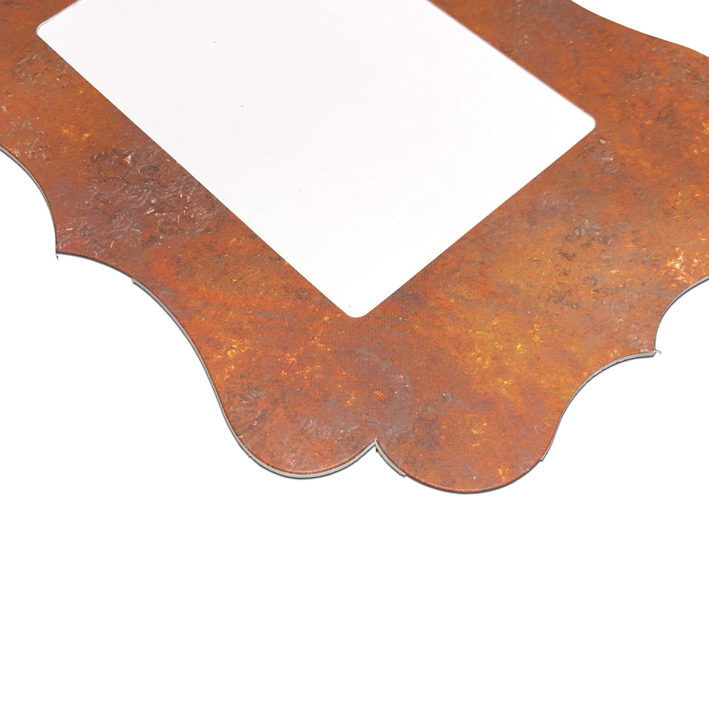 Rust Traced Easel Series frames with die-cut border
