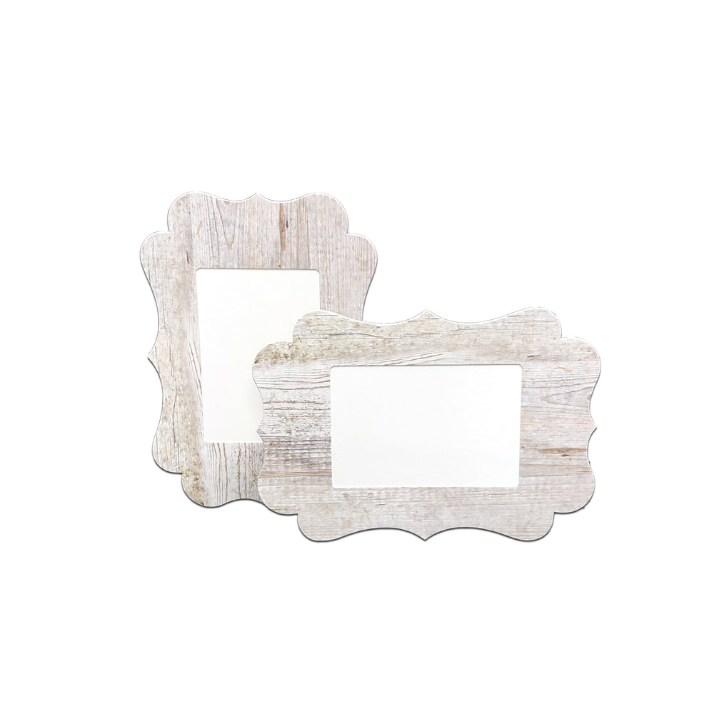 3.5x5, 4x6 or 5x7 Whitewash Traced Easel Series frames