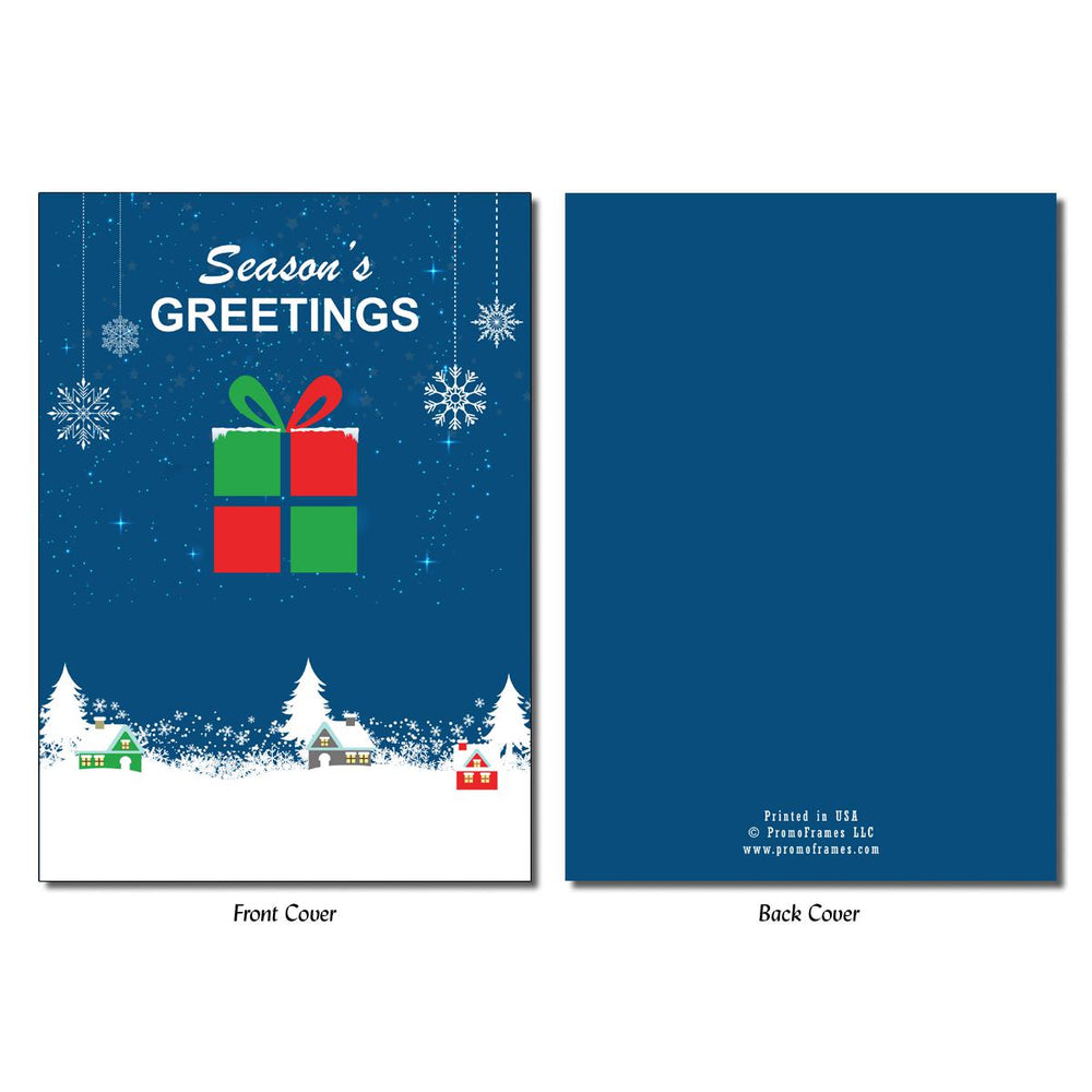 Front and back of Gift Box Greeting Card