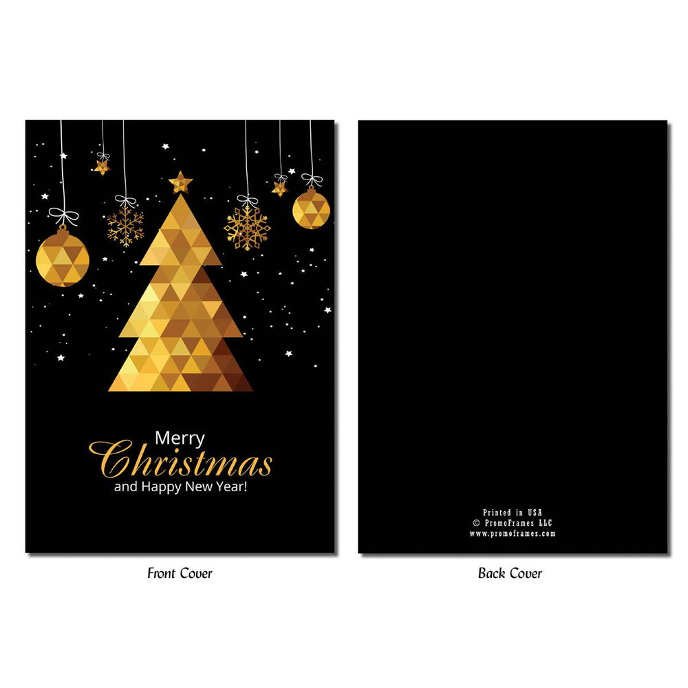 Front and back of Triangle Tree Photo Insert Card