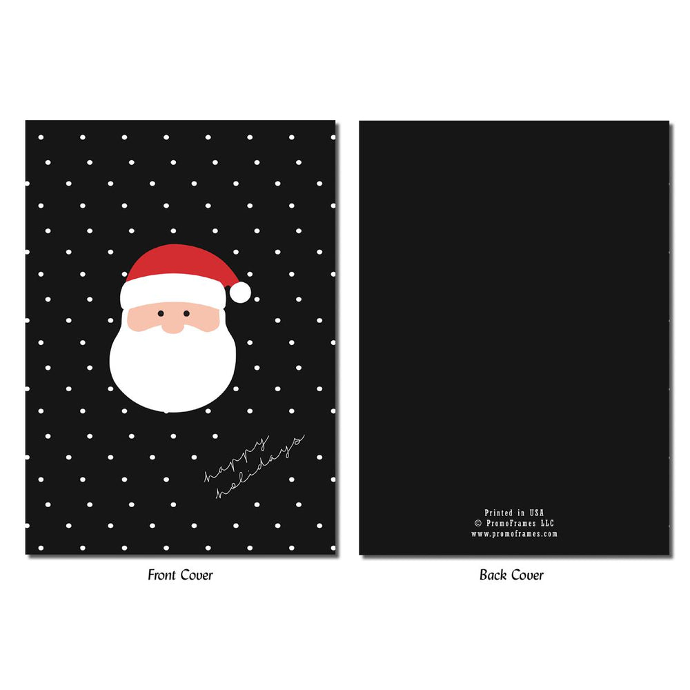 Front and back of Santa's Face Photo Insert Card