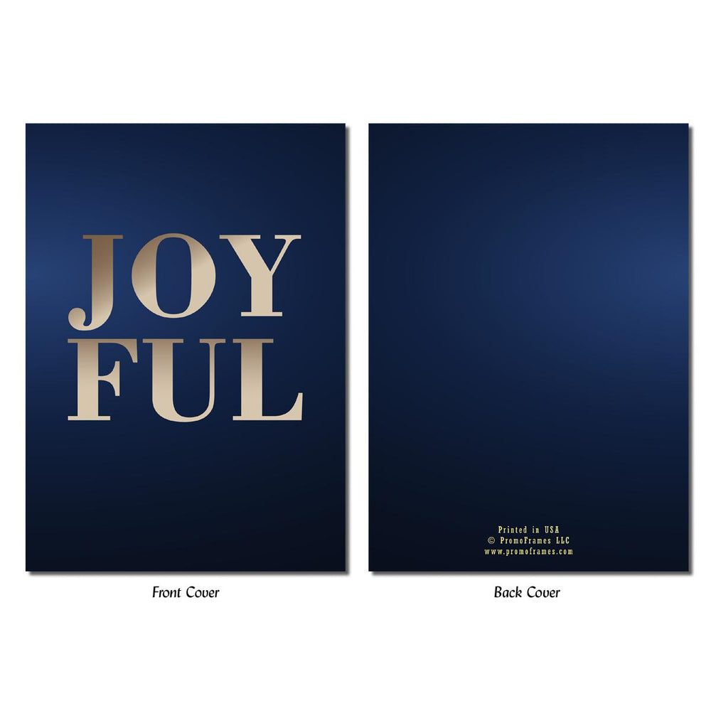 Front and back of Joyful Greeting Card