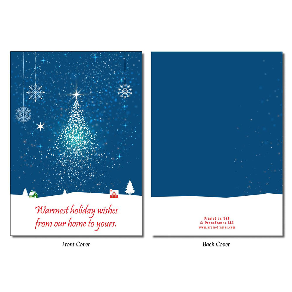 Front and back of Starry Tree Greeting Card