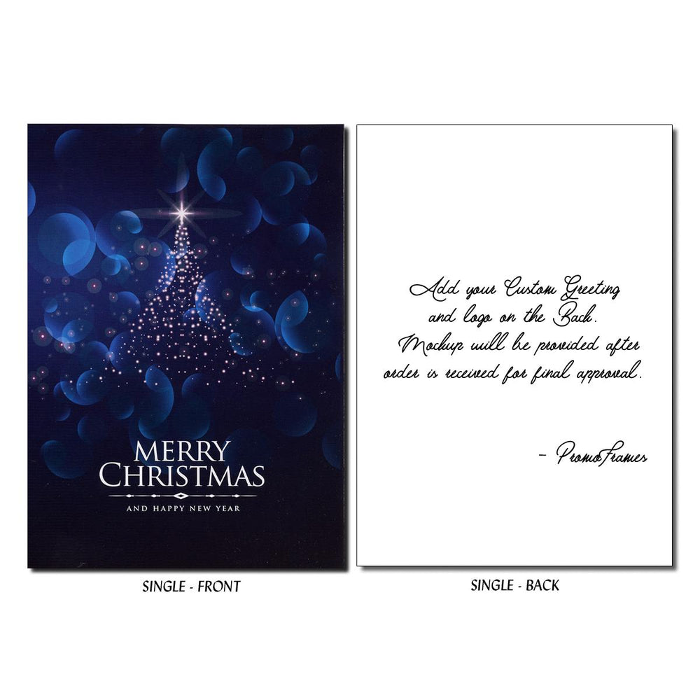Front and back of Northern Star Greeting Card
