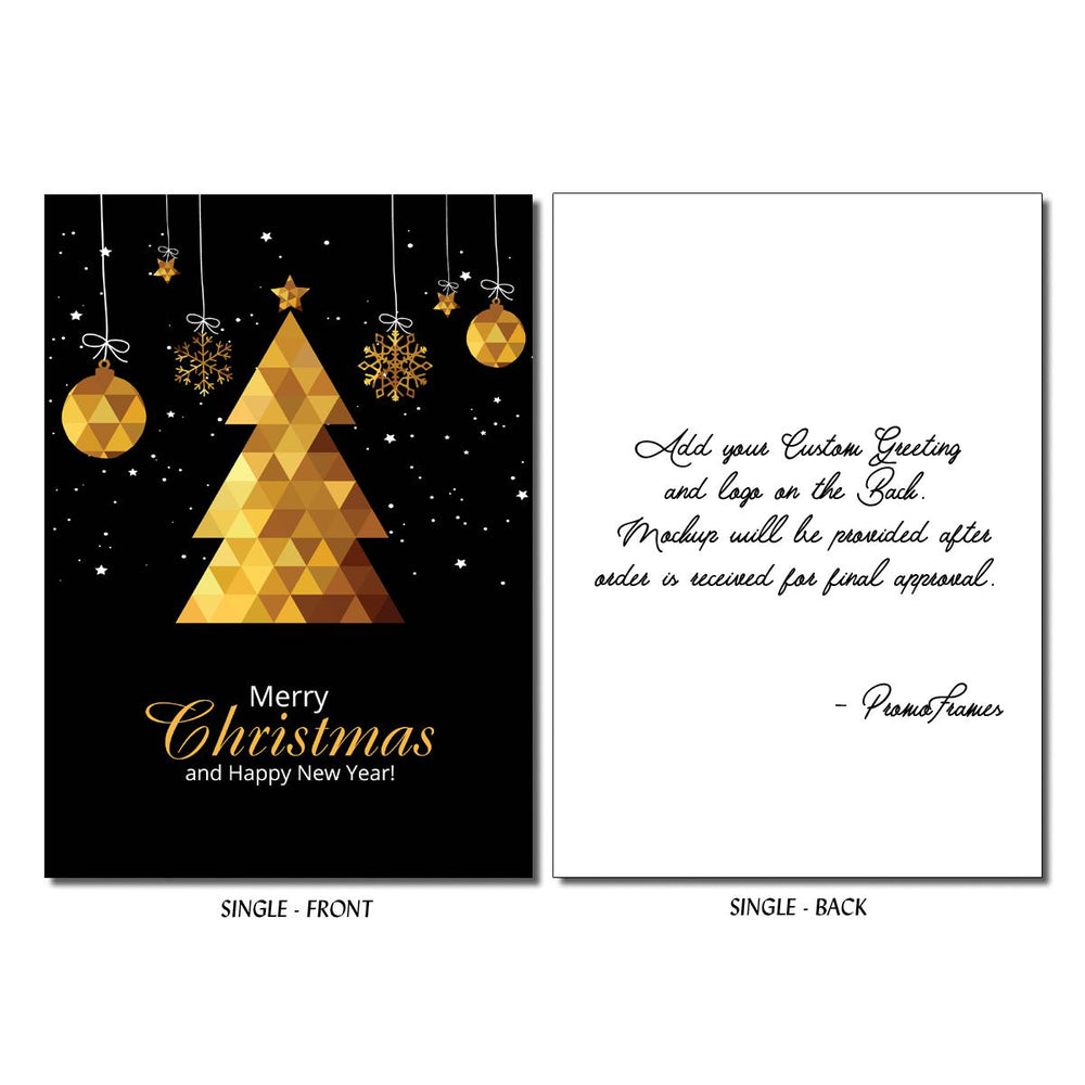 Front and back of Triangle Tree Greeting Card