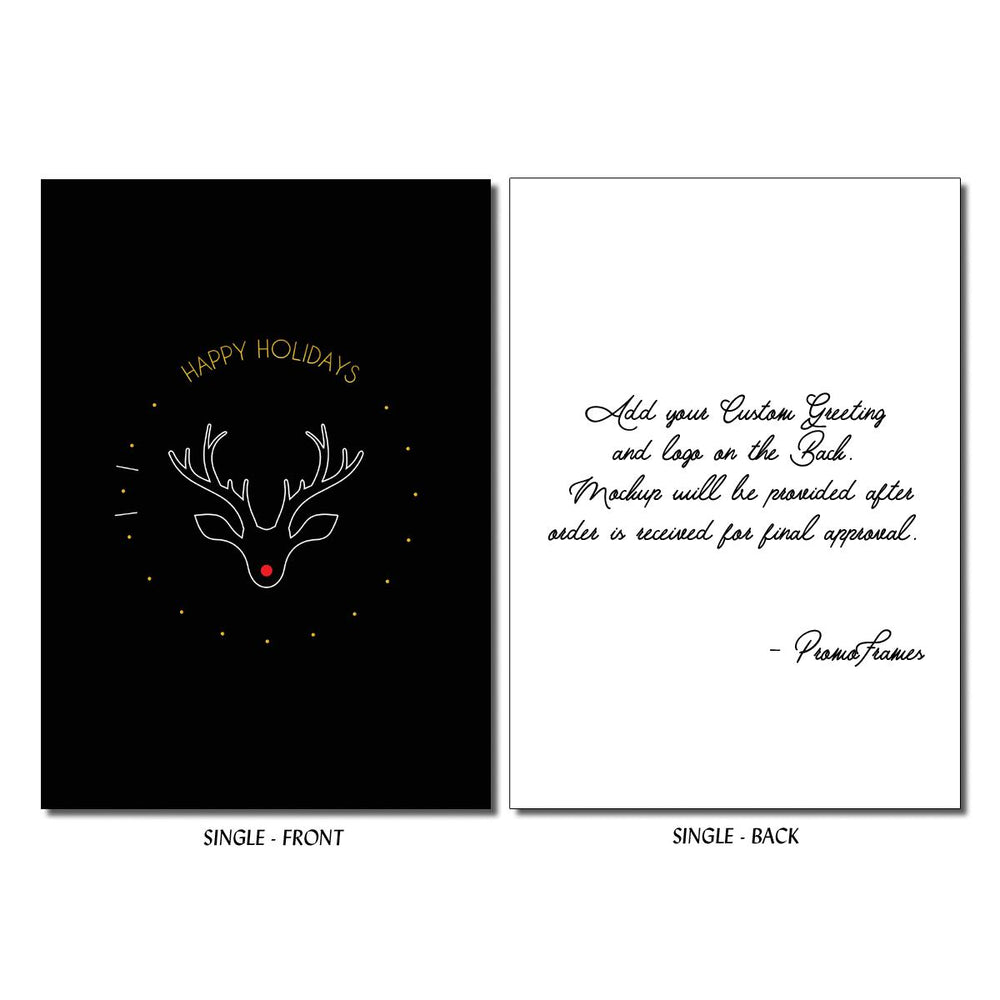 Front and back of Rudolph's Nose Greeting Card