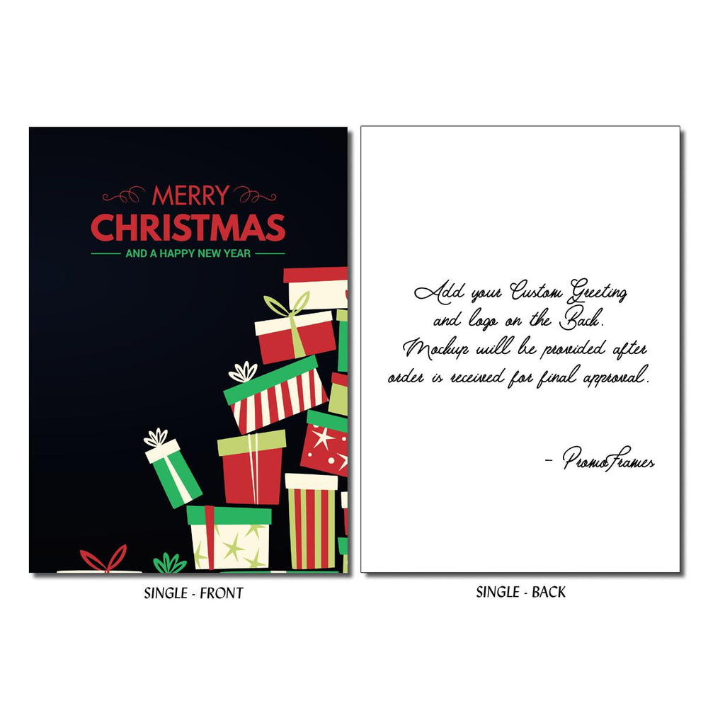 Front and back of Pile of Presents Greeting Card