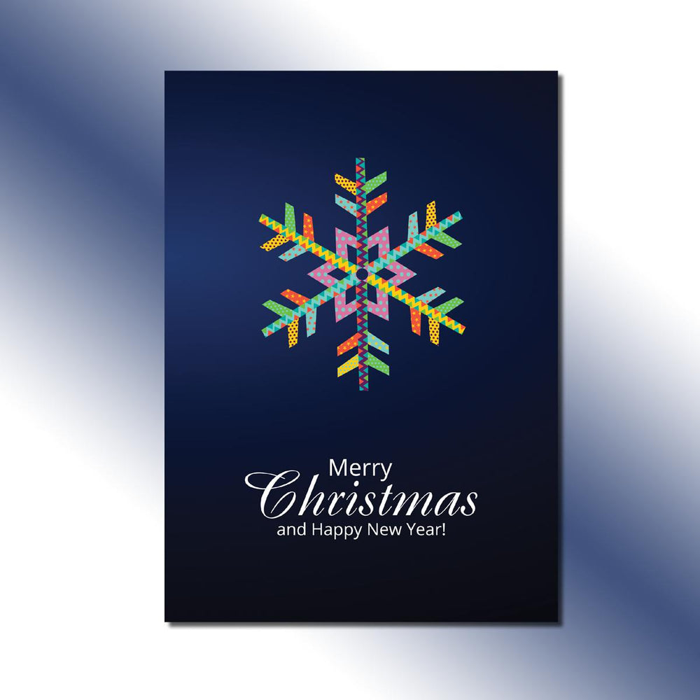 Single-side Colorful Snowflake Greeting Card