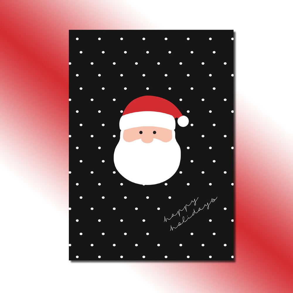 Single-side Santa's Face Greeting Card
