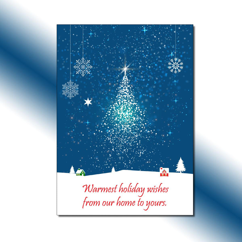Single-side Starry Tree Greeting Card