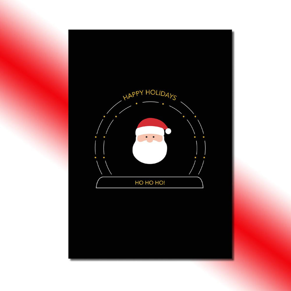 Single-side Santa's Snow Globe Greeting Card