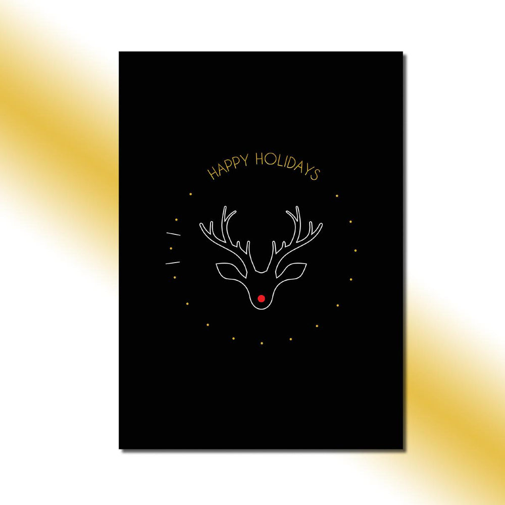 Single-side Rudolph's Nose Greeting Card