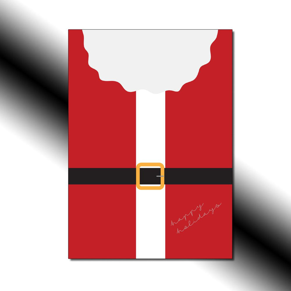 Single-side Santa's Buckle Greeting Card