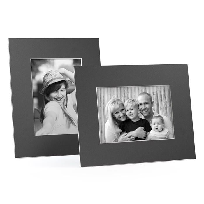 4x6, 5x7 or 8x10 Gray Angle Cut Easel Series frames