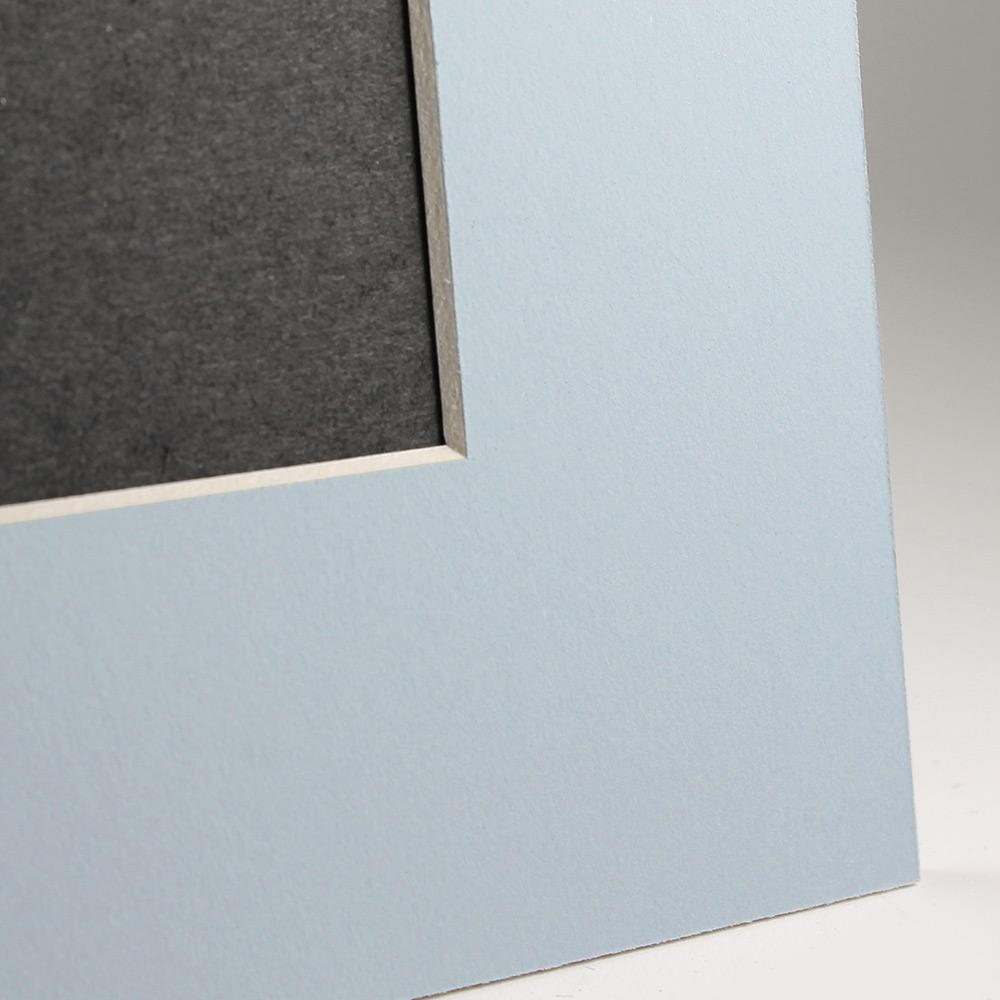 Light blue Angle Cut Easel Series frames with white core