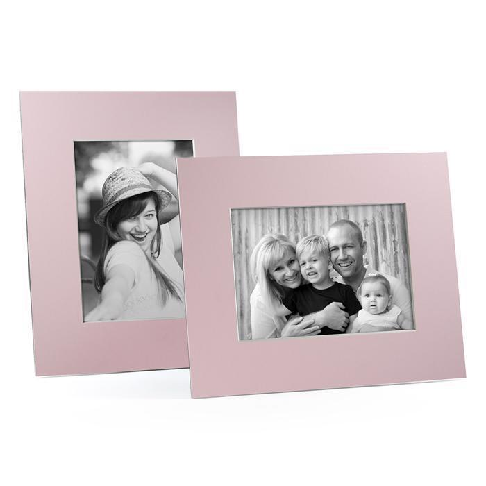 4x6, 5x7 or 8x10 Pink Angle Cut Easel Series frames