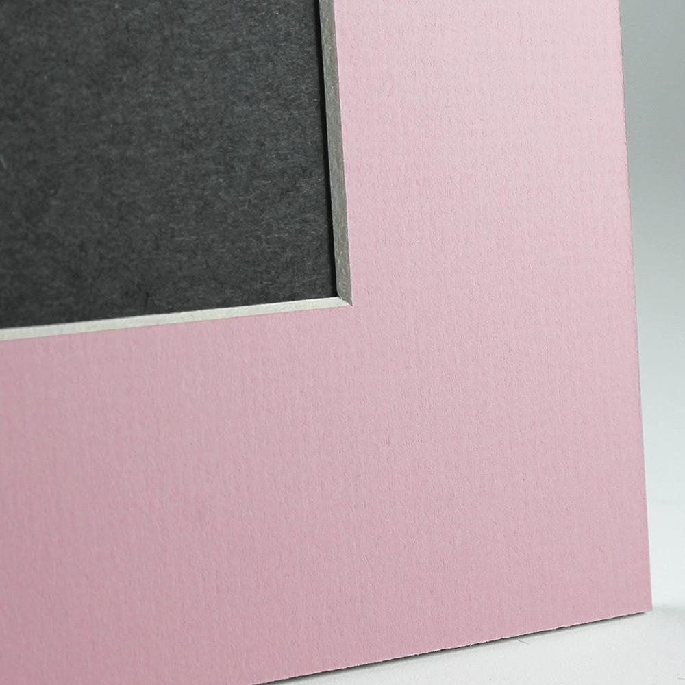Pink Angle Cut Easel Series frames with white core