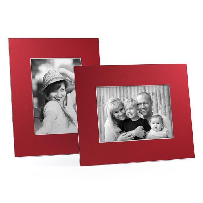 4x6, 5x7 or 8x10 Red Angle Cut Easel Series frames