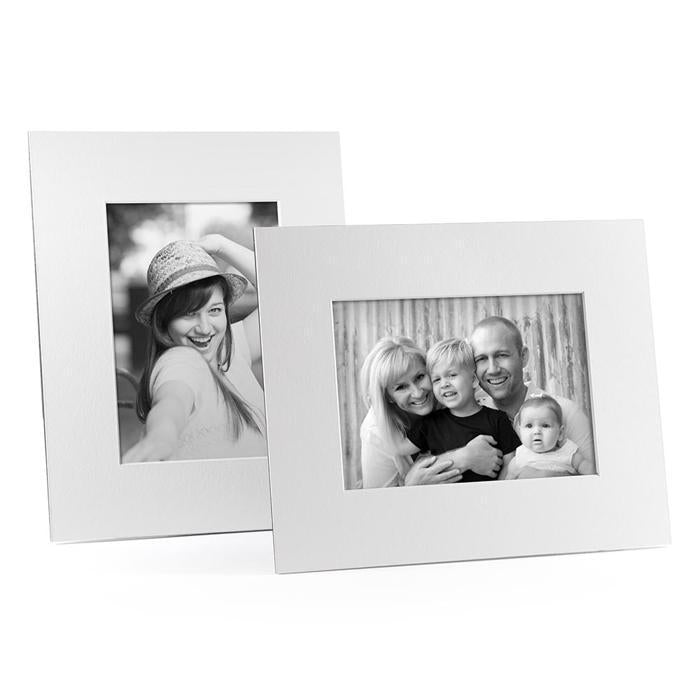 4x6, 5x7 or 8x10 White Angle Cut Easel Series frames
