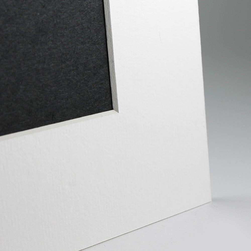 White Angle Cut Easel Series frames with white core