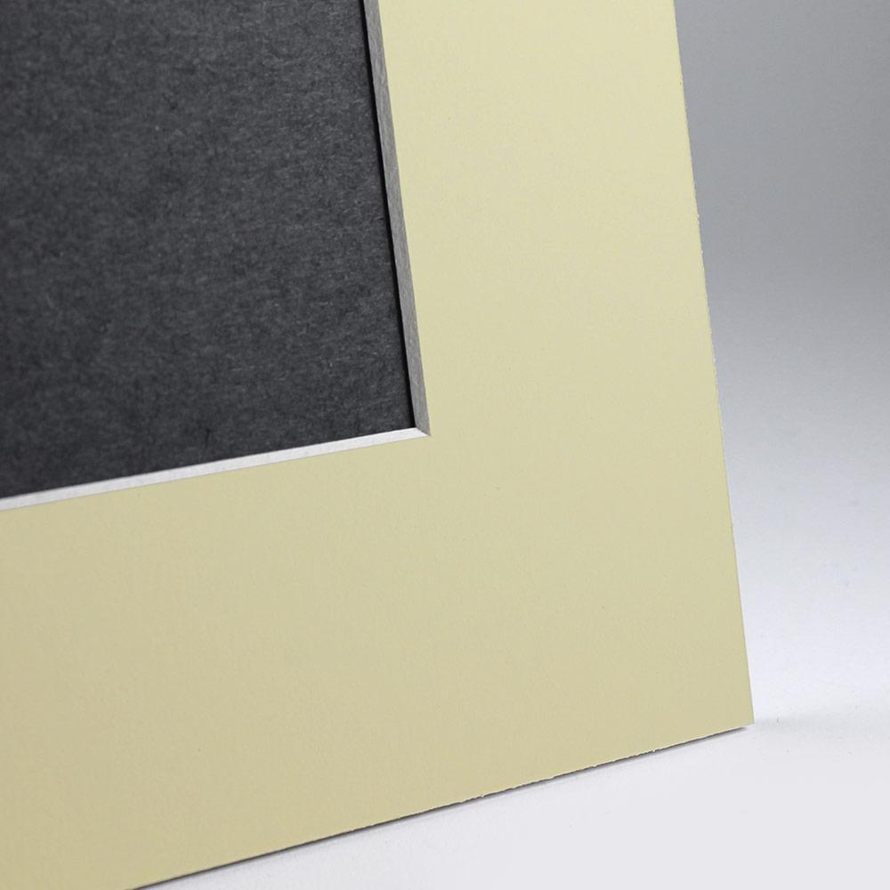 Yellow Angle Cut Easel Series frames with white core