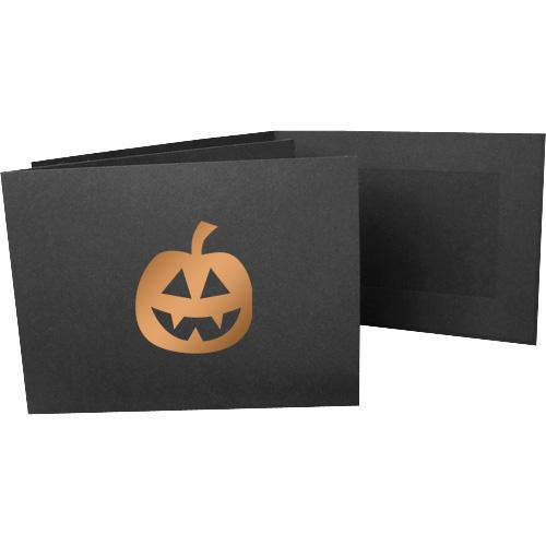 6x4 EconoBright Folders Stamped Series with jack-o-lantern foil stamp