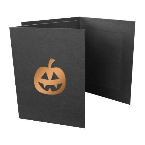4x6 EconoBright Folders Stamped Series with jack-o-lantern foil stamp