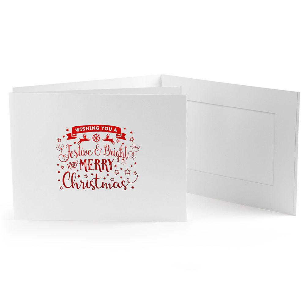 6x4 EconoBright Folders Stamped Series with festive foil stamp
