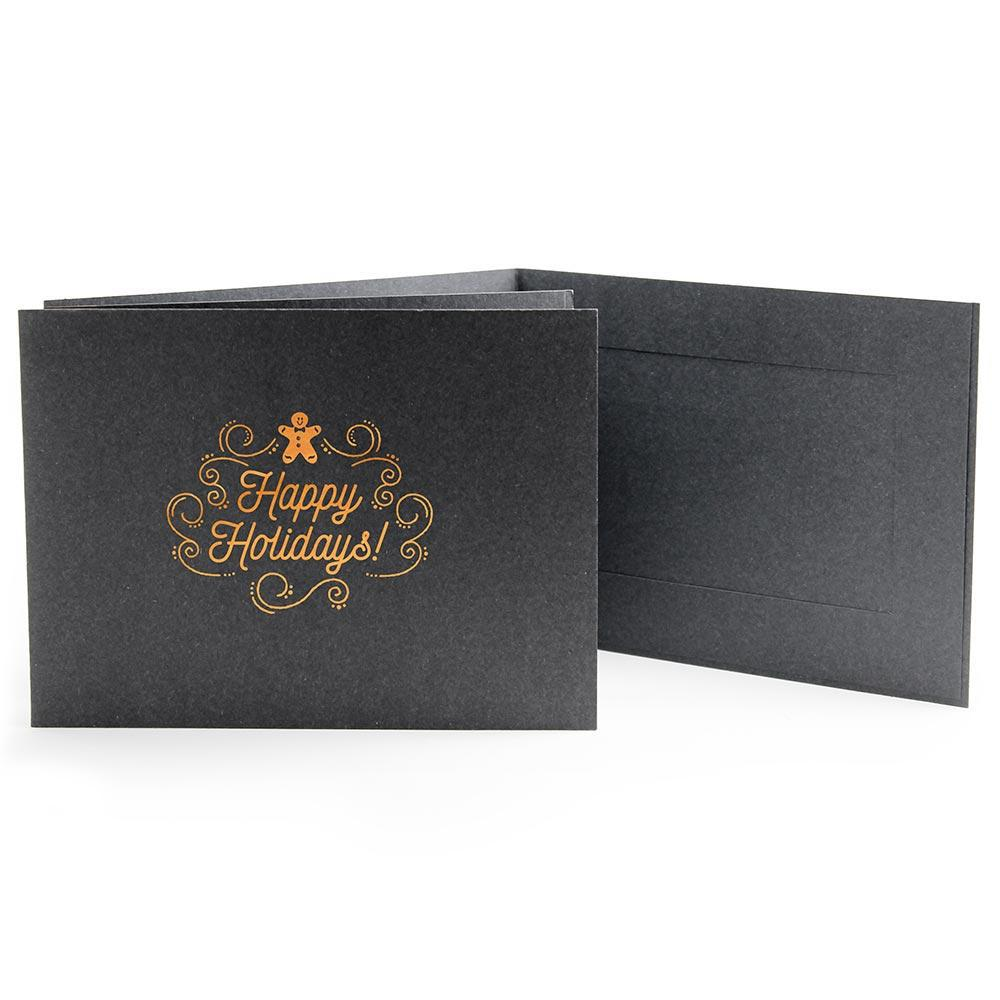 6x4 EconoBright Folders Stamped Series with gingerbread man foil stamp