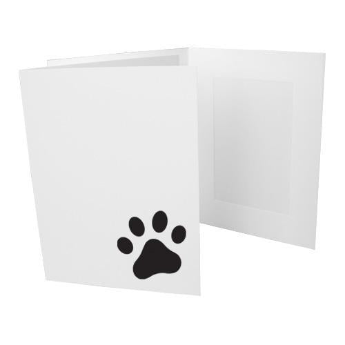 4x6 EconoBright Folders Stamped Series with paw print foil stamp