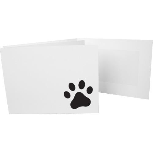 6x4 EconoBright Folders Stamped Series with paw print foil stamp