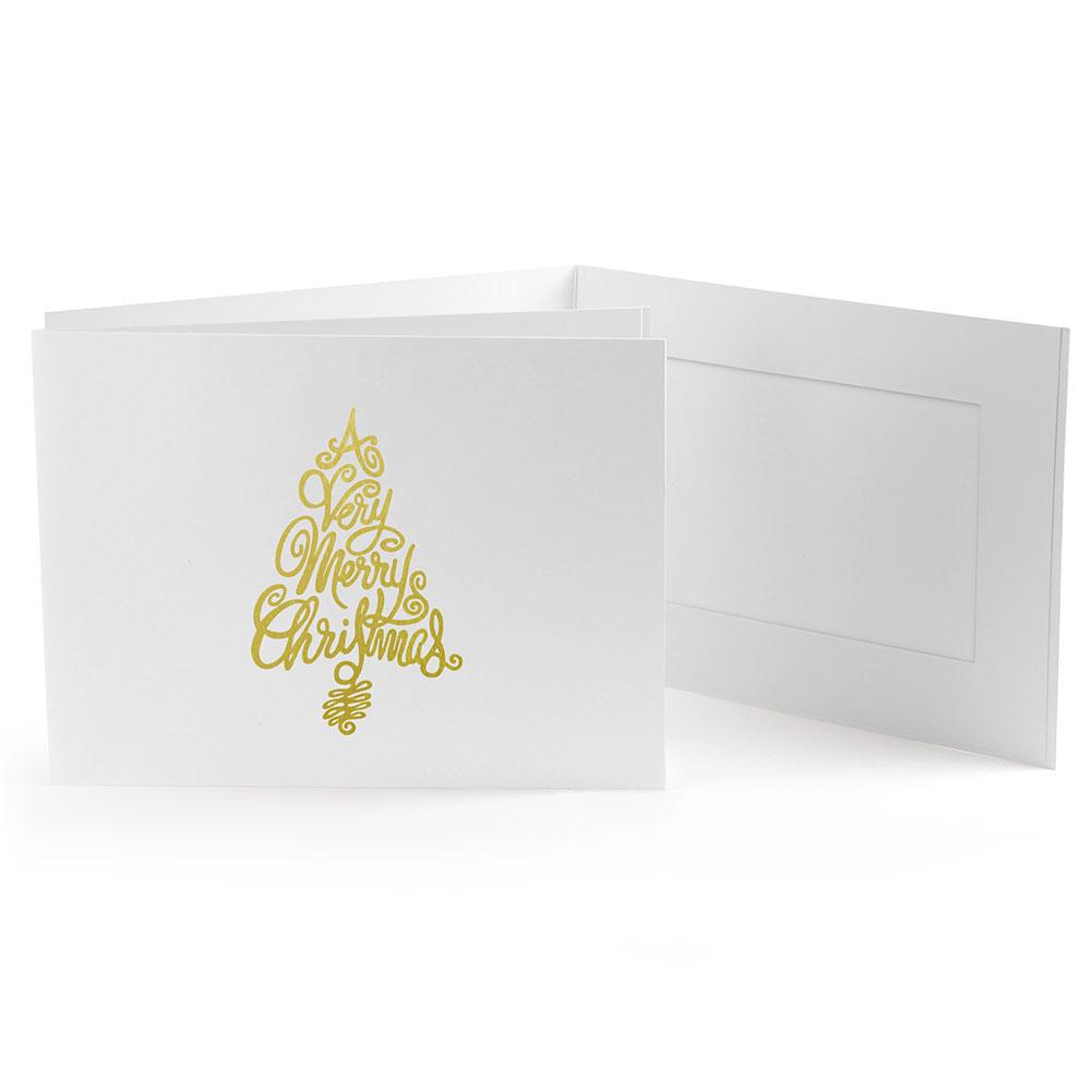 6x4 EconoBright Folders Stamped Series with Christmas tree foil stamp