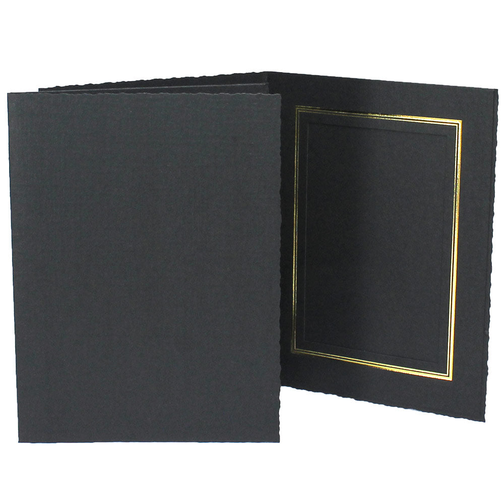 Black Enviro Folders frames with gold trim