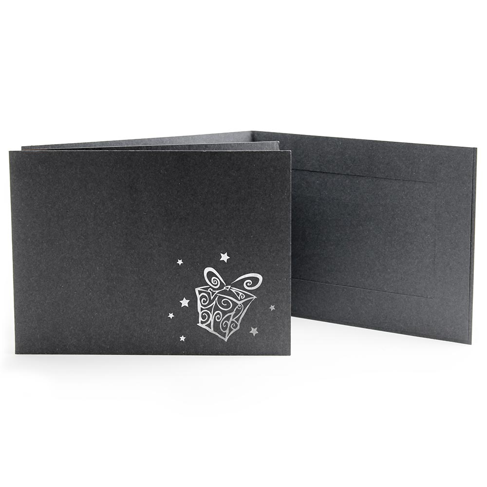 6x4 EconoBright Folders Stamped Series with presents foil stamp
