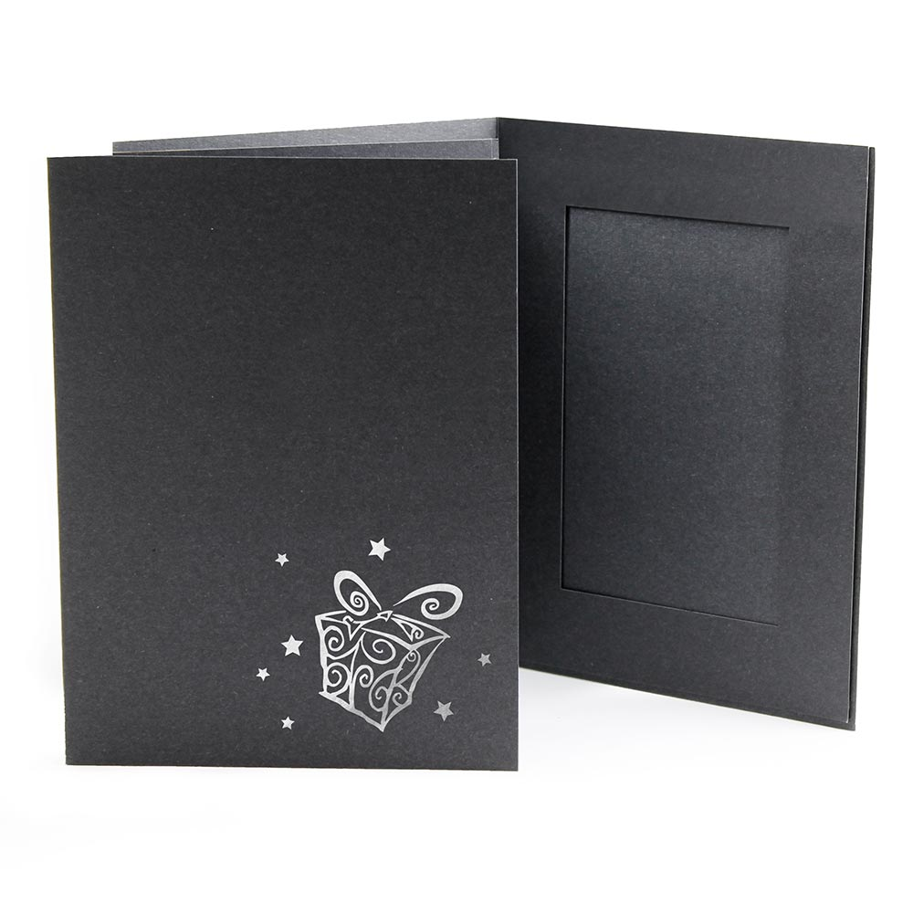 4x6 EconoBright Folders Stamped Series with presents foil stamp