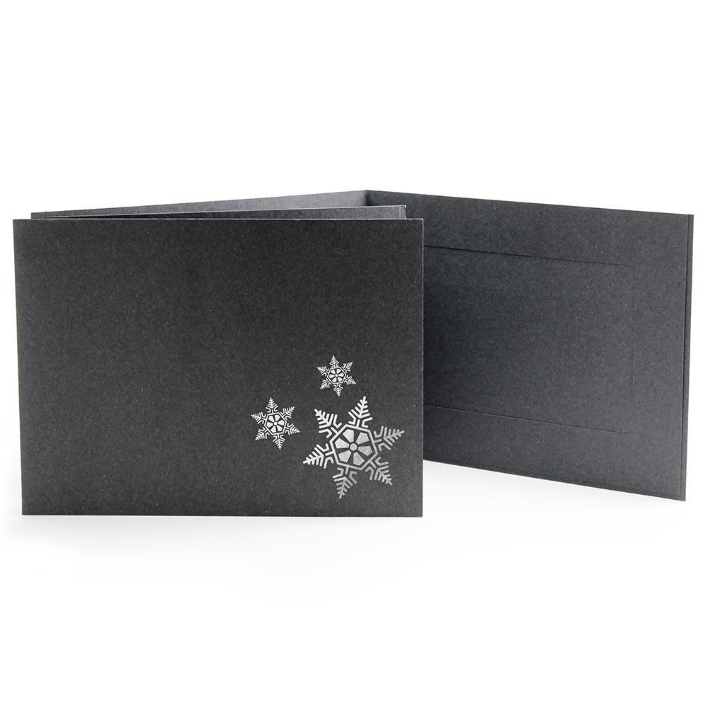6x4 EconoBright Folders Stamped Series with snowflake foil stamp