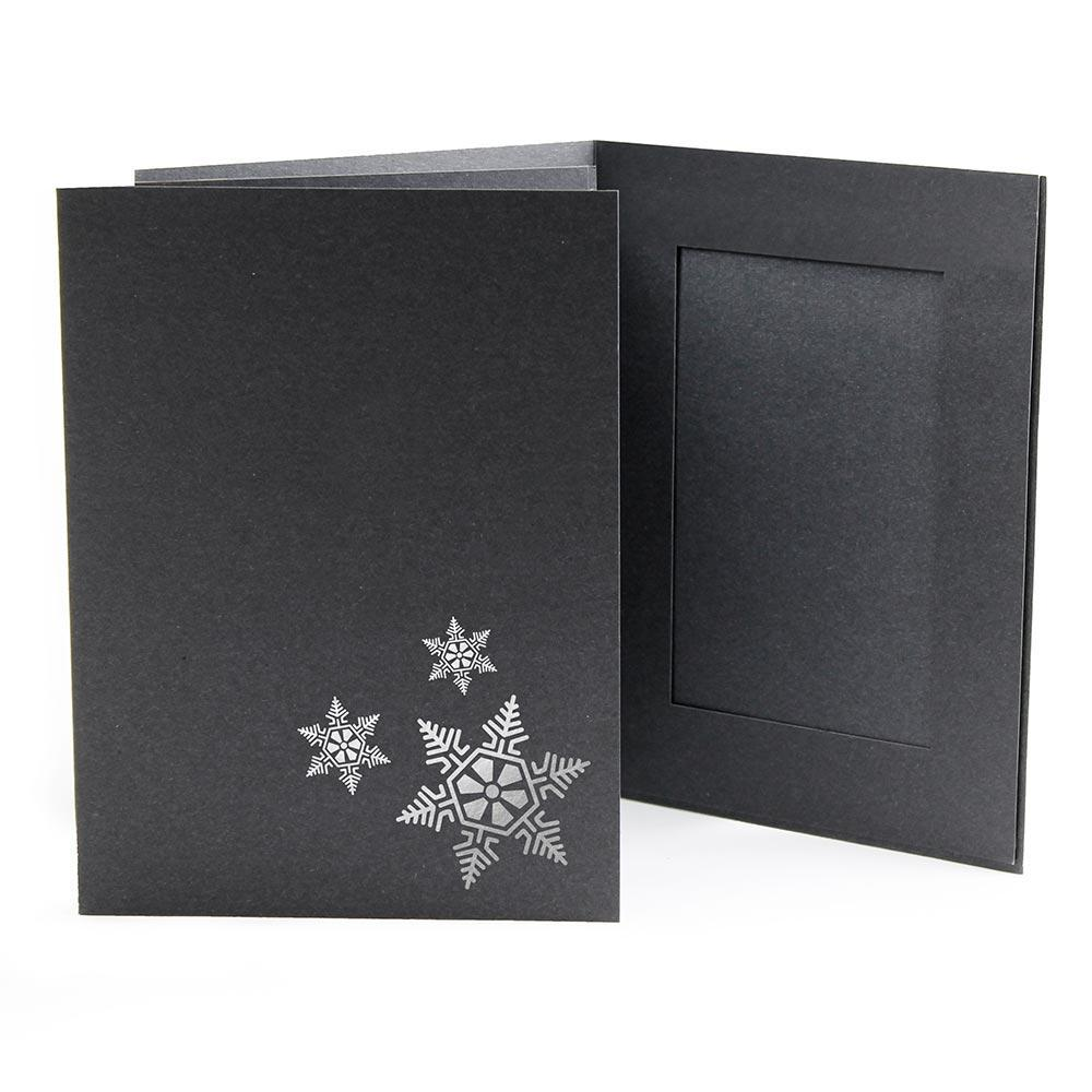 4x6 EconoBright Folders Stamped Series with snowflake foil stamp