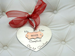 Our 1st Christmas Heart Ornament